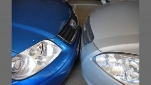 Incidenti auto in spazi condominiali